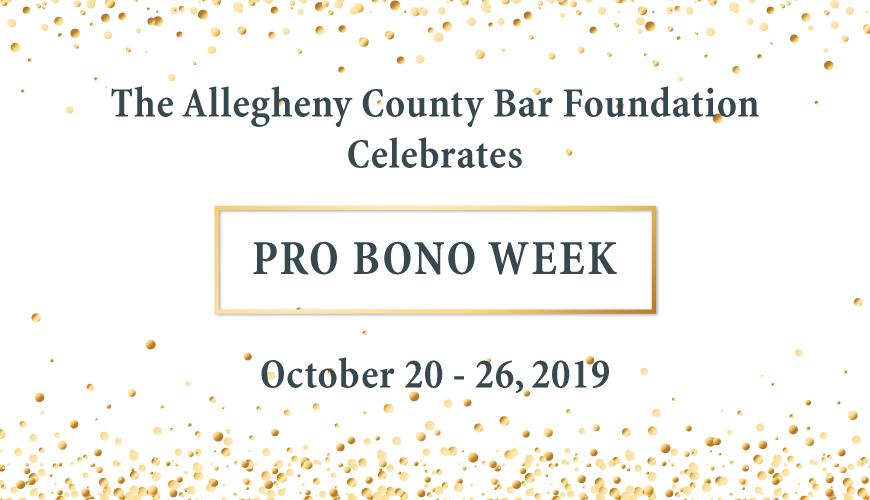 Pro Bono Week, October 20-26, 2019