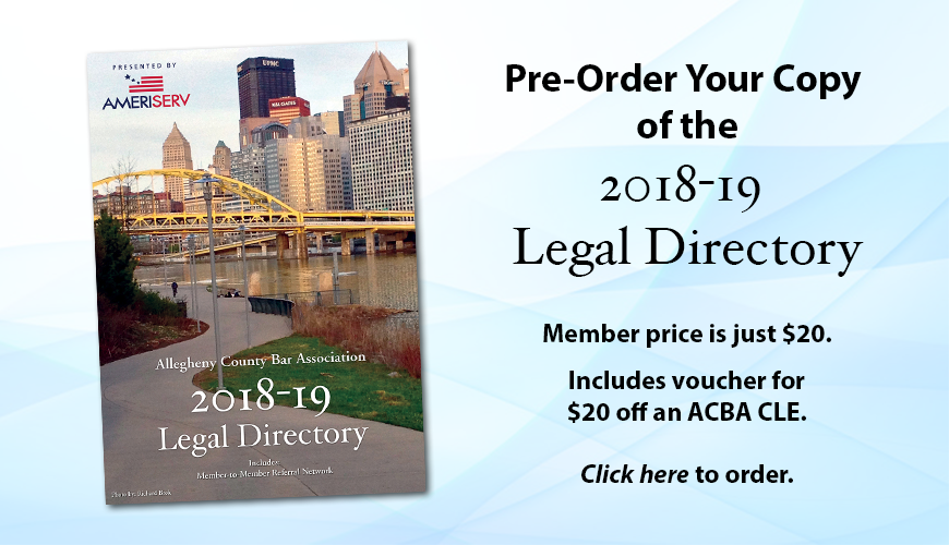 Preorder the 2018-19 ACBA Legal Directory