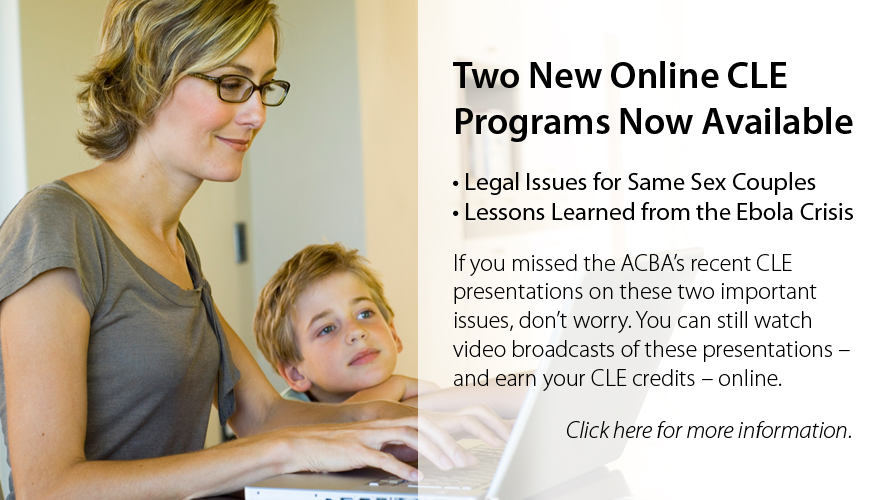 New online ACBA CLEs