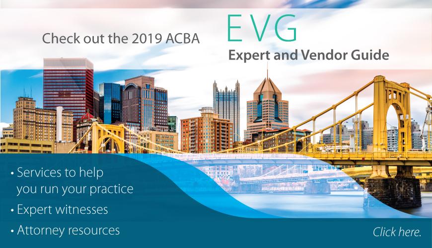 ACBA Expert and Vendor Guide