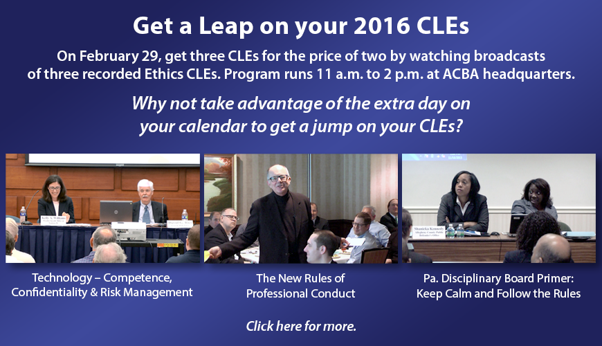 Get a Leap on Your 2016 CLEs